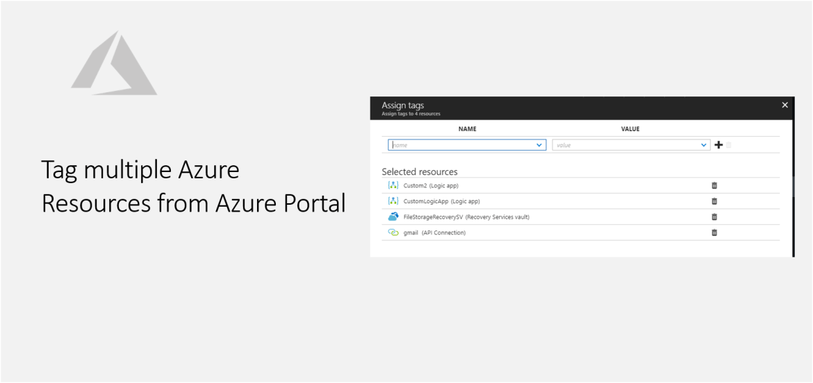 Tag multiple Azure Resources from Azure Portal