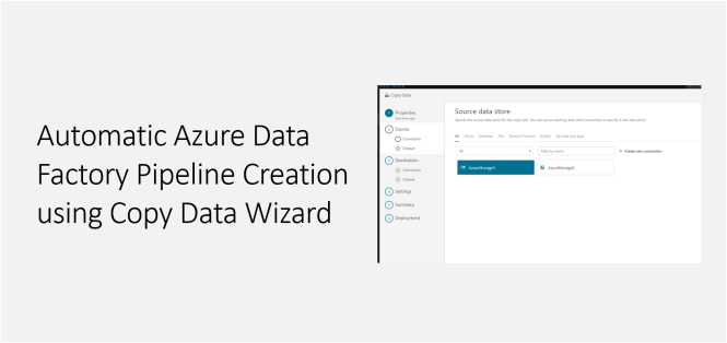 Automatic Azure Data Factory Pipeline Creation using Copy Data Wizard - Featured