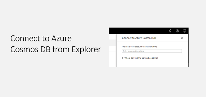 Connect to Azure Cosmos DB from Explorer