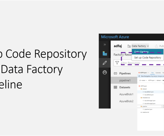 Setting up Code Repository for Azure Data Factory