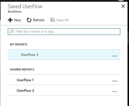 Saved User Flow