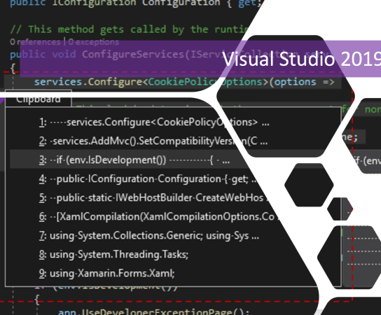 View Clipboard Ring History in Visual Studio 2019