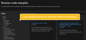 Code Samples Browser for Microsoft Platform Developers