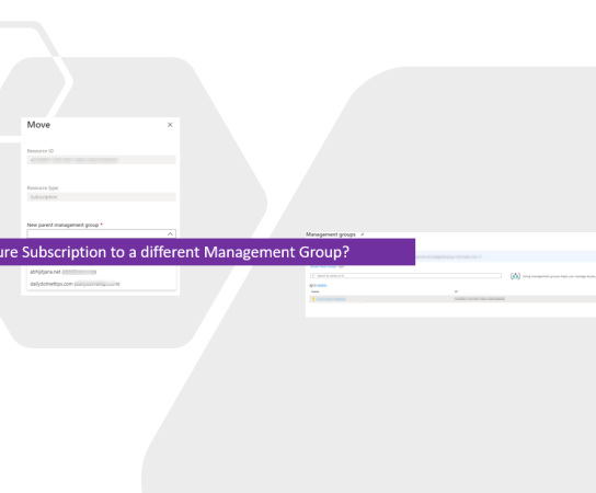 How to Move an Azure Subscription to a different Management Group?