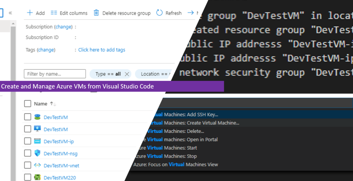 Create and Manage Azure VMs from Visual Studio Code