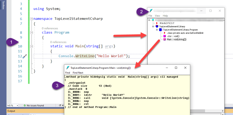 IL Code for C#