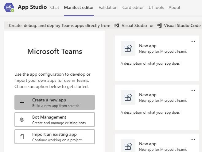 App Studio Create New App