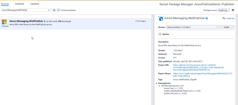 Azure.Messaging.WebPubSub Nuget
