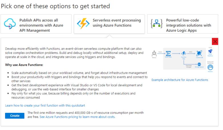 Get Started Azure Serverless