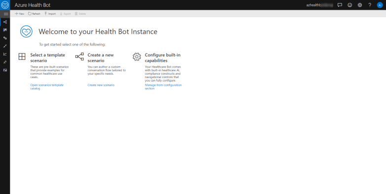 Azure Health Bot Management Portal
