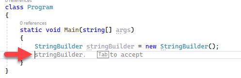 IntelliCode Code in Visual Studio 2022