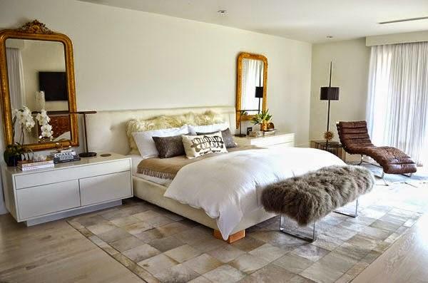 Luxe Bedroom With Golden Details
