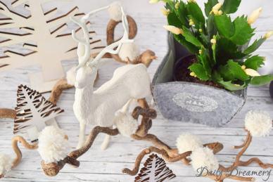 Deko Schneebälle aus Wolle, Pompons