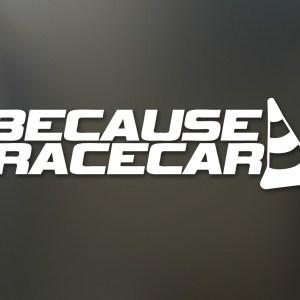 Because Racecar Sticker