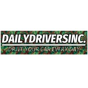 Drive Every Day Camo Bumper Sticker