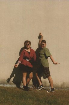 Kerry and a friend, circa 1980s - photo courtesy of Kerry Adrienne