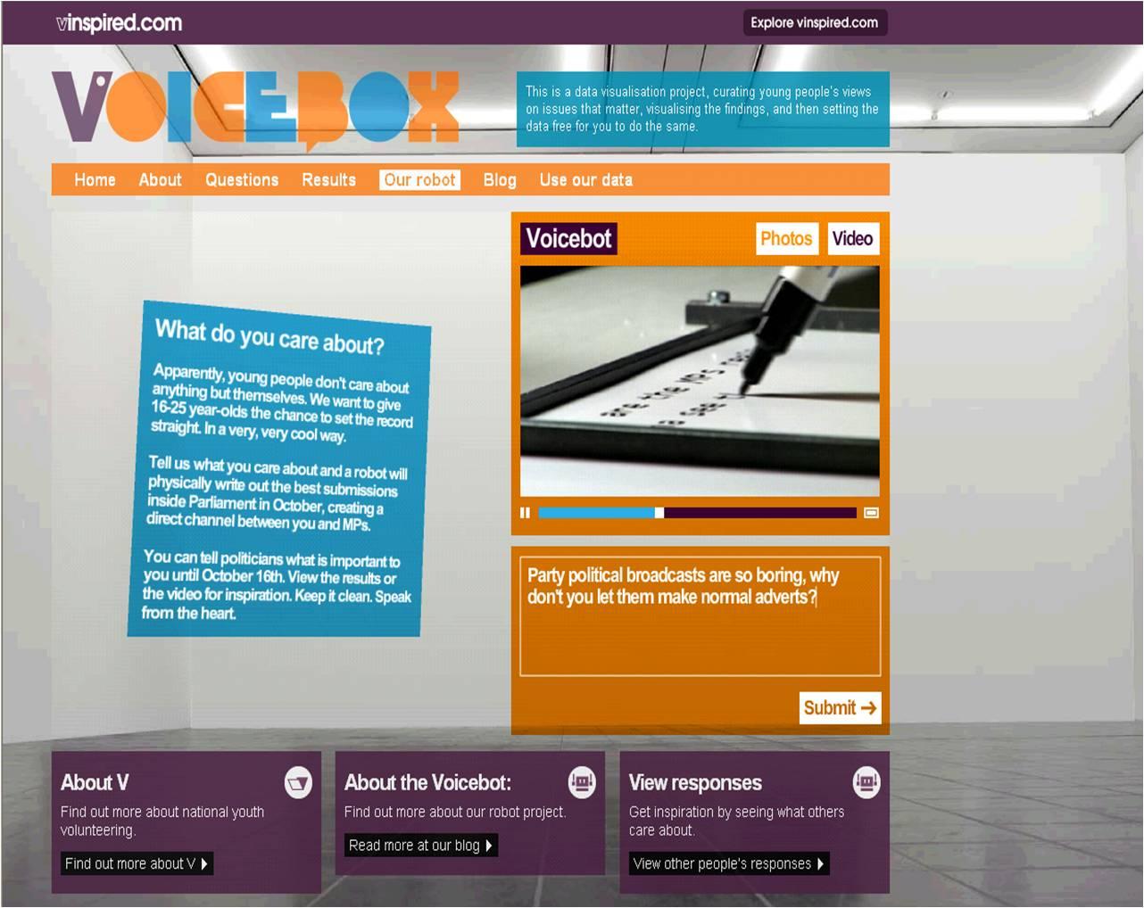 Voicebox vinspired.com