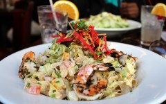 NYC Heartland Brewery + 5 Healthy Salad Options, southwestern salad, southwestern salad with shrimp