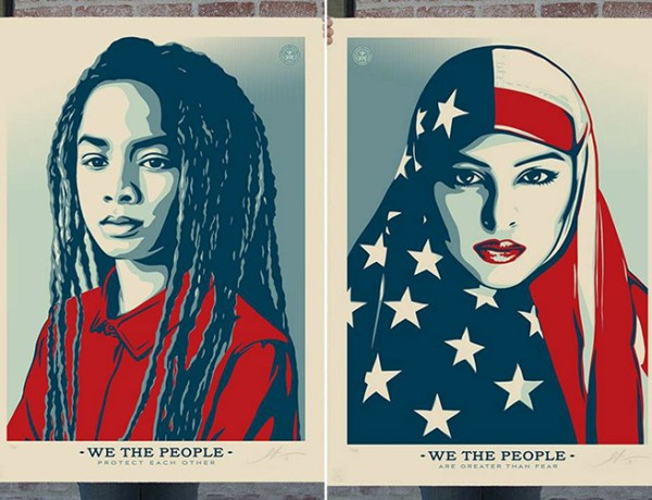 Books, 'Hope' Posters, 'Hidden Figures', red white and blue Pbama poster, Shepard Fairey