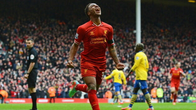 467809991 raheem sterling of liverpool celebrates scoring the Football Players That Have Performed The Best So Far 2014