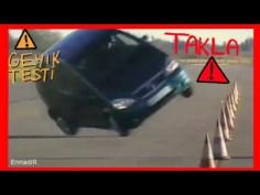 Geyik Testinde Başarısız Olan Arabalar (moose test) Takla!