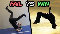 Best Wins vs Fails Compilation (Trampoline, Parkour)