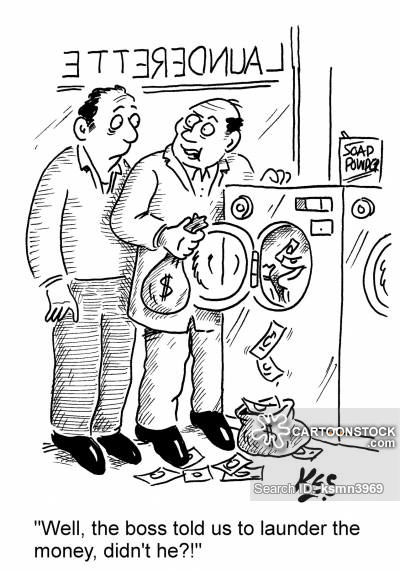 'Well, the boss told us to launder the money, didn't he?!'