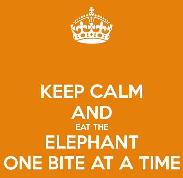 keep-calm-and-eat-the-elephant-one-bite-at-a-time-2