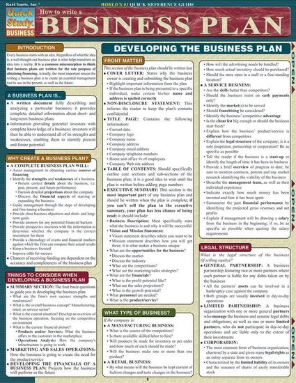 How To Write A Business Plan (9781572228115)