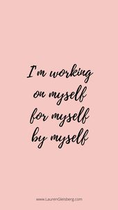 BEST MOTIVATIONAL & INSPIRATIONAL GYM / FITNESS QUOTES – I'm working on myself f…