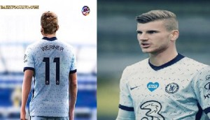 Timo werner wear number 11 jersey for Chelsea