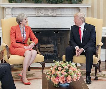 Donald Trump Tehresa May