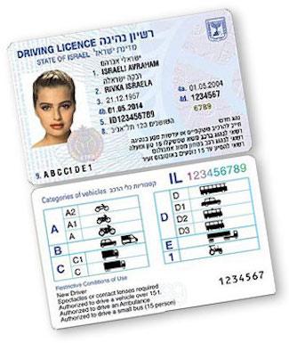 Israeli Drivers license Daily Freier