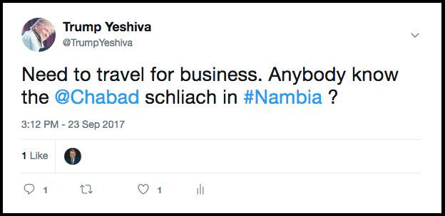 Trump Yeshiva Daily Freier Nambia