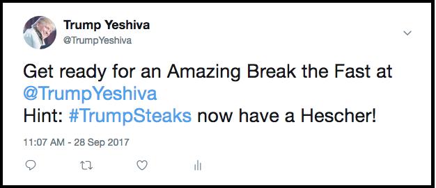 Trump Yeshiva Daily Freier Trump Steaks