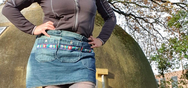tuinschort jeans