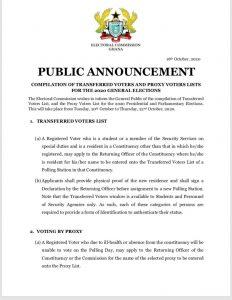 EC Set To Compile Proxy Voters List 1