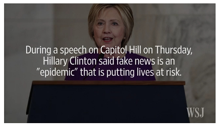 "Hillary Slams ""Fake News"", But Blamed Online Video For Benghazi Attack"