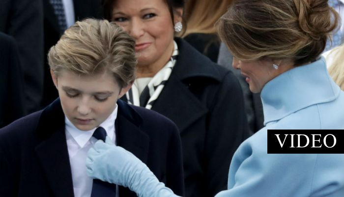 Video of Barron Goes Viral After People See His Reaction to Melania; Did You Spot It? [WATCH]