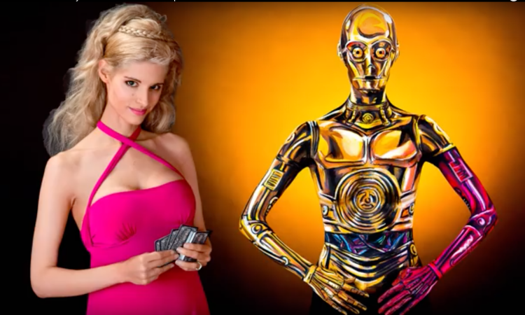 Time Lapse [VIDEO] of Woman in 3-CPO Body Paint