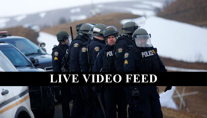 BREAKING: Riot Police & Military Humvees Enter DAPL Camp — Oceti Sakowin