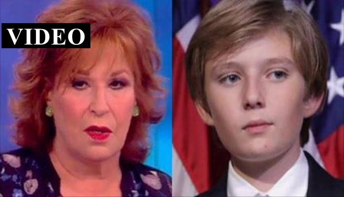 Joy Behar Stirs Up Controversy By Describing Barron Trump With Two Words