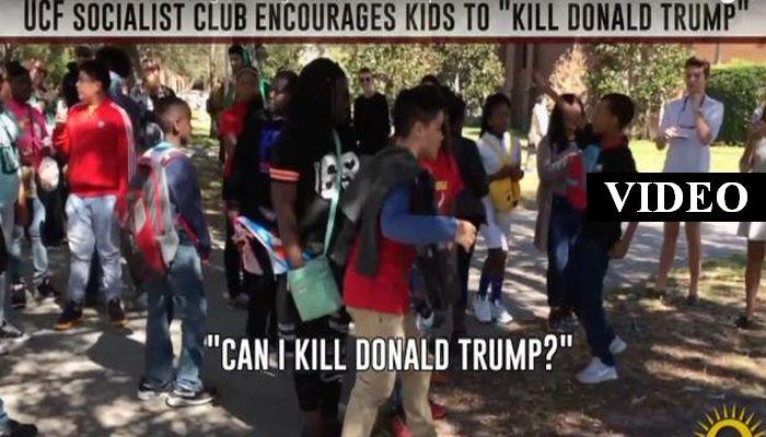 "College Socialist Group Incites Children To Say ""KILL DONALD TRUMP!"""