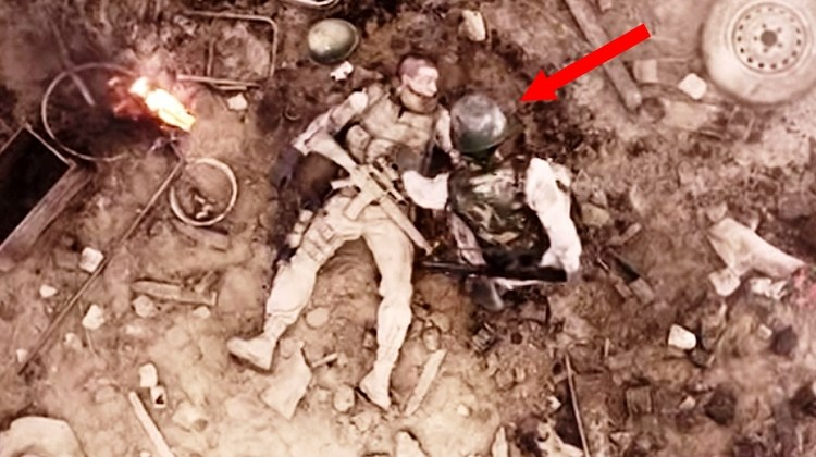 He Lays Wounded On The Battlefield, Now Watch The Sergeant To His Right [VIDEO]