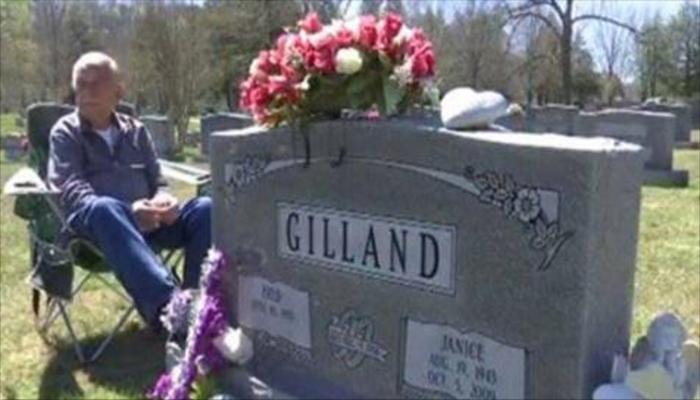Photograph Of Man Visiting Grave Goes Viral; Look Closer [IMAGE]