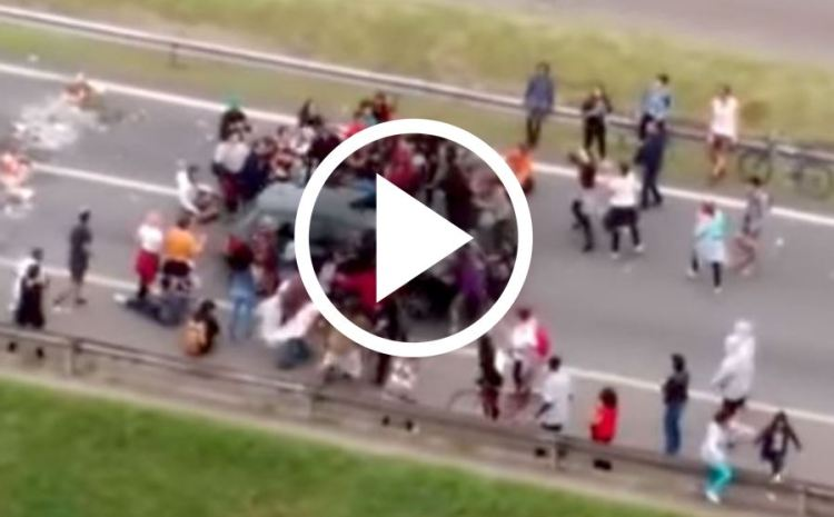 Man Has Had It With Protesters, So He Takes Matters Into His Own Hands [WATCH]