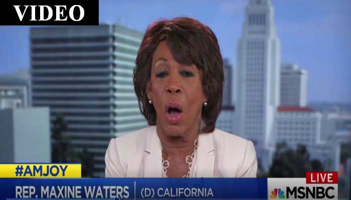 "Maxine Waters Pushes Impeachment: ""I Don't Care What Others Say"""