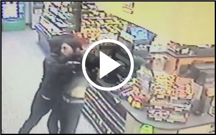 Armed Robber Holds Up Convenience Store, But A Good Samaritan Wasn't Going To Allow It