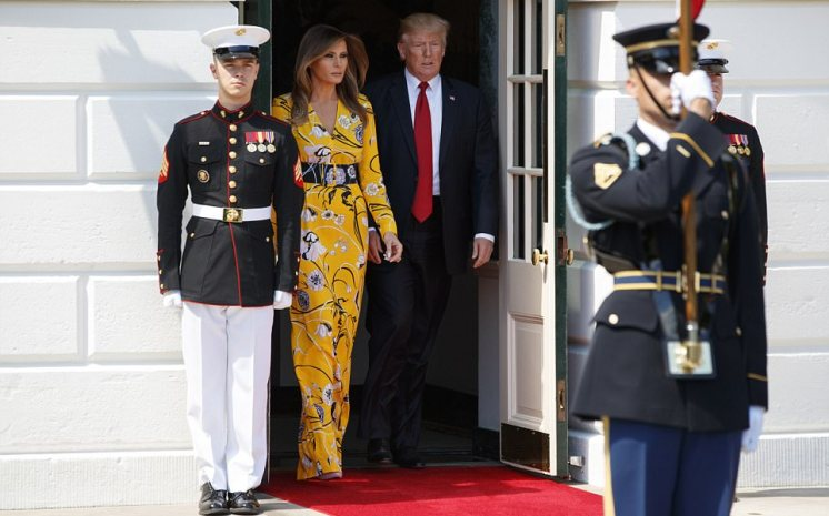 Melania Trump Wows With Dress She Wore To Greet Indian Prime Minister