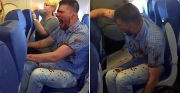 Airplane Passengers Are Terrified When They See How The Man Next To Them Is Acting [RAW VIDEO]